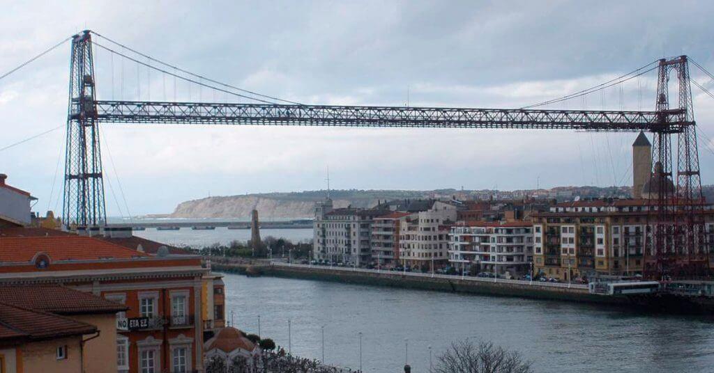 Puente de Vizcaya, transbordador de Portugalete a Las Arenas.
