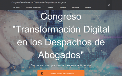 Impresiones Congreso Transformación digital despacho de abogados