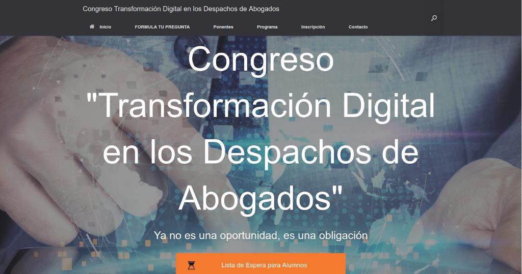 Impresiones Congreso Transformación digital despacho de abogados